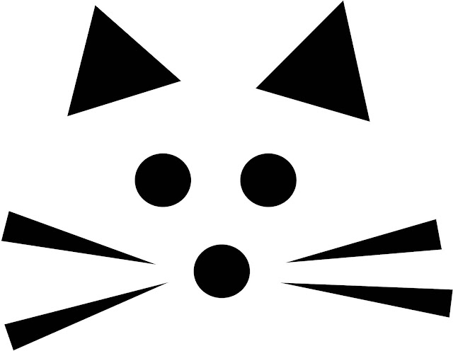 Download Cat face pumpkin carving pattern stencil template designs free