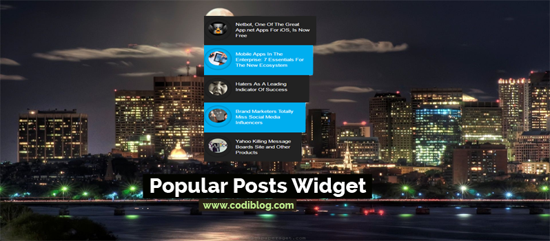 blogger popular posts widget
