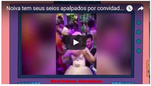 Noiva tem seus seios apalpados por convidados em tradição de casamento bizarro