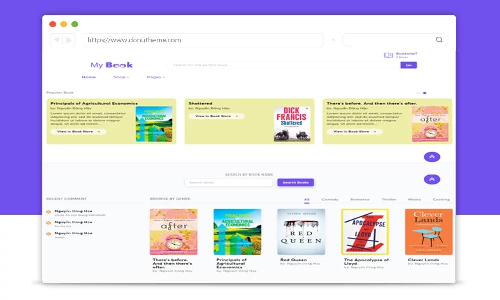 MyBooks Responsive Blogger  Template