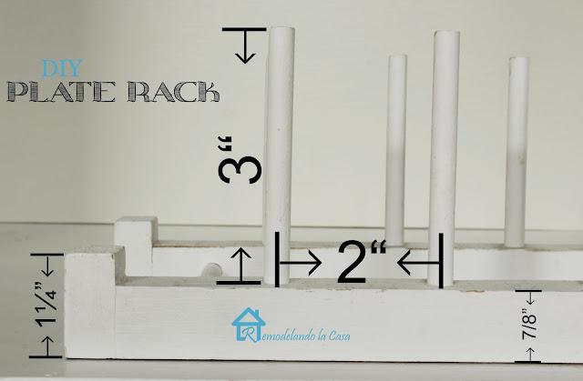 Easy to Build Plate Rack - Remodelando la Casa