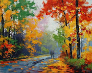 "May inspiration is by Graham Gercken with ""Autumn Stroll"""