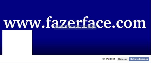 Como fazer para reposicionar a imagem de capa do Face