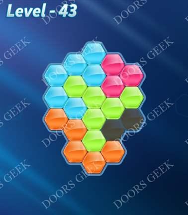Block! Hexa Puzzle [5 Mania] Level 43 Solution, Cheats, Walkthrough for android, iphone, ipad, ipod