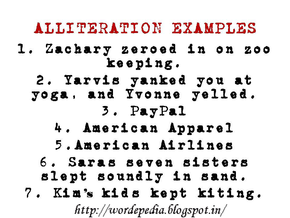 Wordepedia alliteration examples for Alliteration poem template