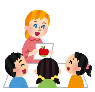 子供向け英語教室のイラスト