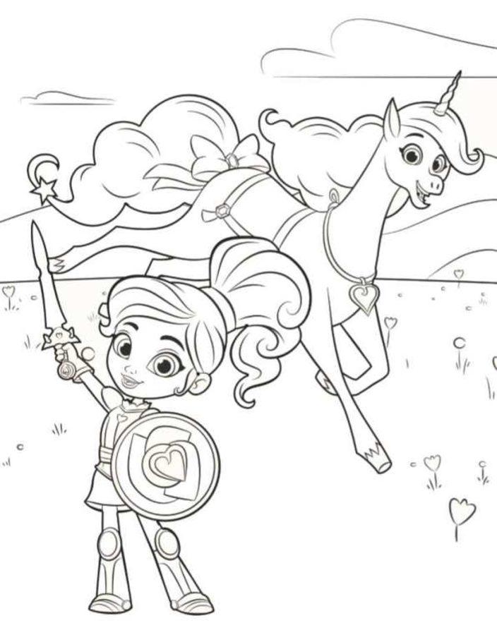 COLOREA TUS DIBUJOS Personajes de Princesa Nella para ...