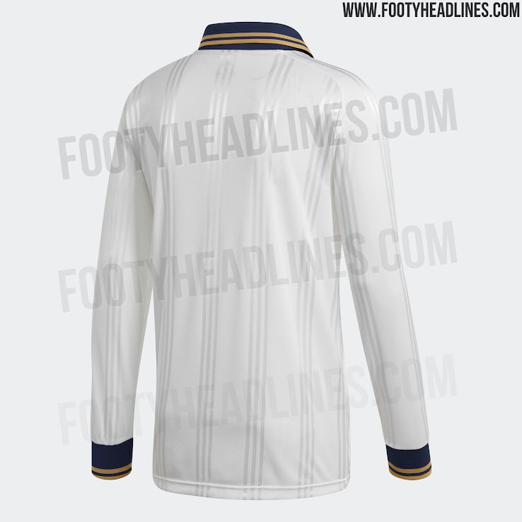 cbdcff296 Adidas Real Madrid 19-20 Icon Retro Long-Sleeve Jersey Leaked ...