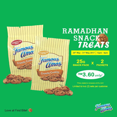 Famous Amos Malaysia Cookie Snack Pack Discount Promo