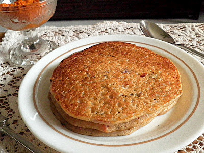 Semolina and Oatneal Pancake Recipe @ treatntrick.blogspot.com