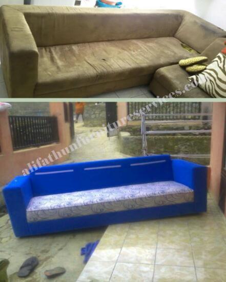 Hasil perbaikan sofa bandung
