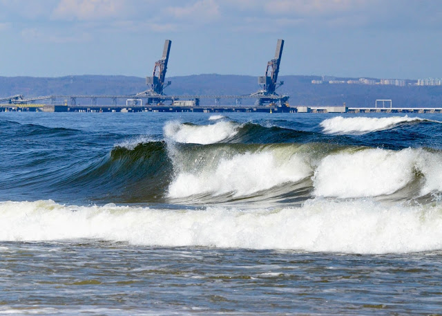 Waves on Gdansk Bay