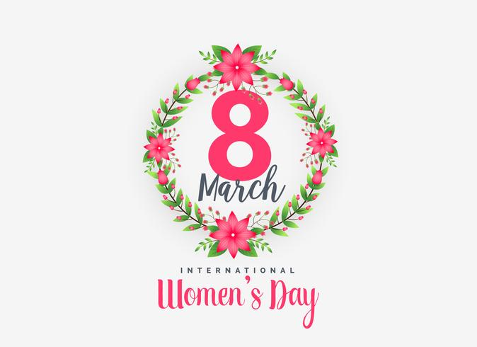 Cute 8th March Happy Women's Day Background free vector