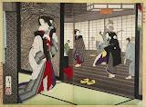 Diptych: The Story of Shiraito of Hashimotoya by Tsukioka Yoshitoshi - History Art Prints from Hermitage Museum