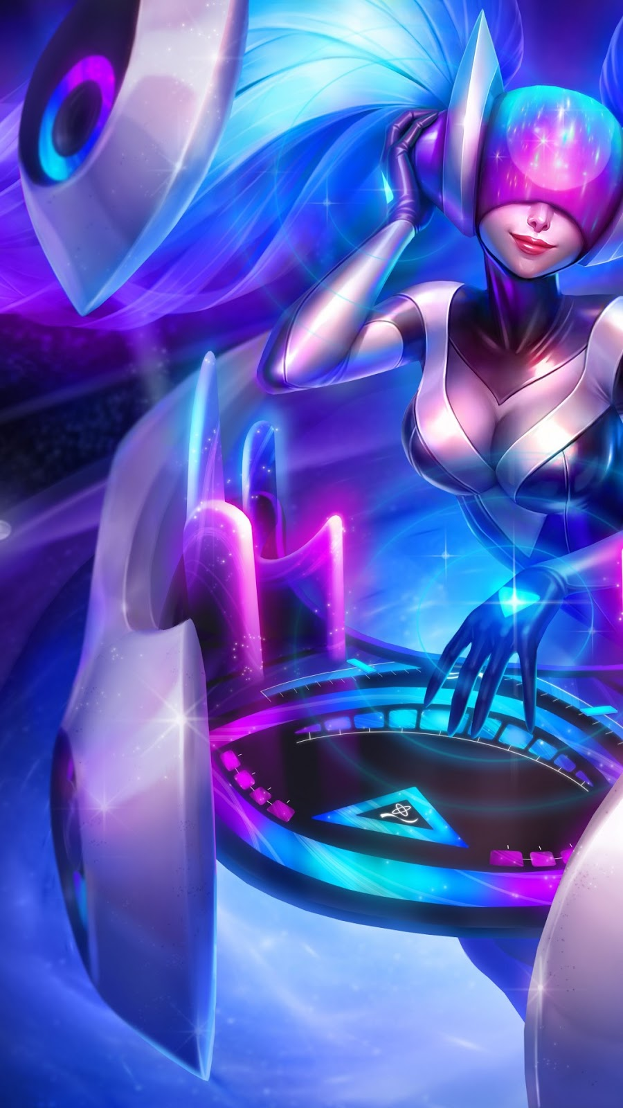 Papel de parede grátis DJ Sona League of Legends para PC, Notebook, iPhone, Android e Tablet.
