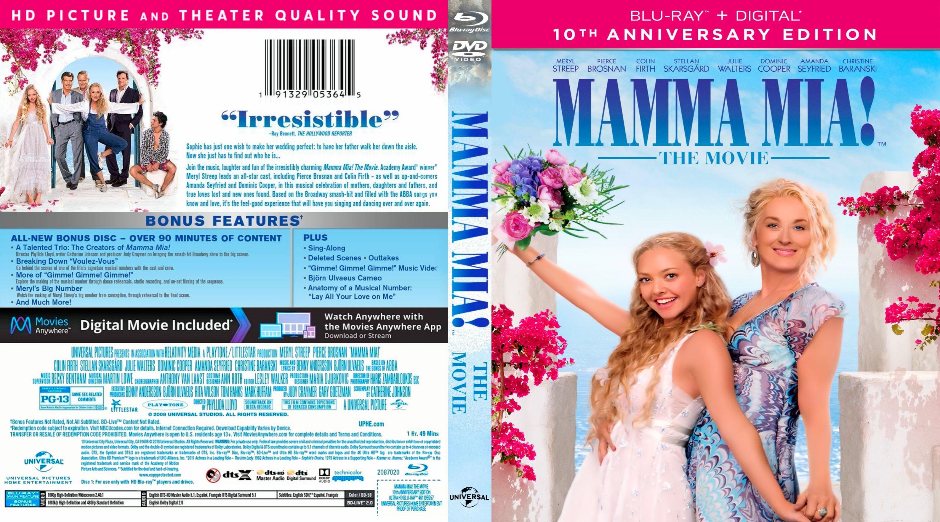 Mamma Mia Bluray Cover Cover Addict Dvd Bluray Covers And