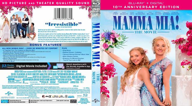 Mamma Mia! Bluray Cover