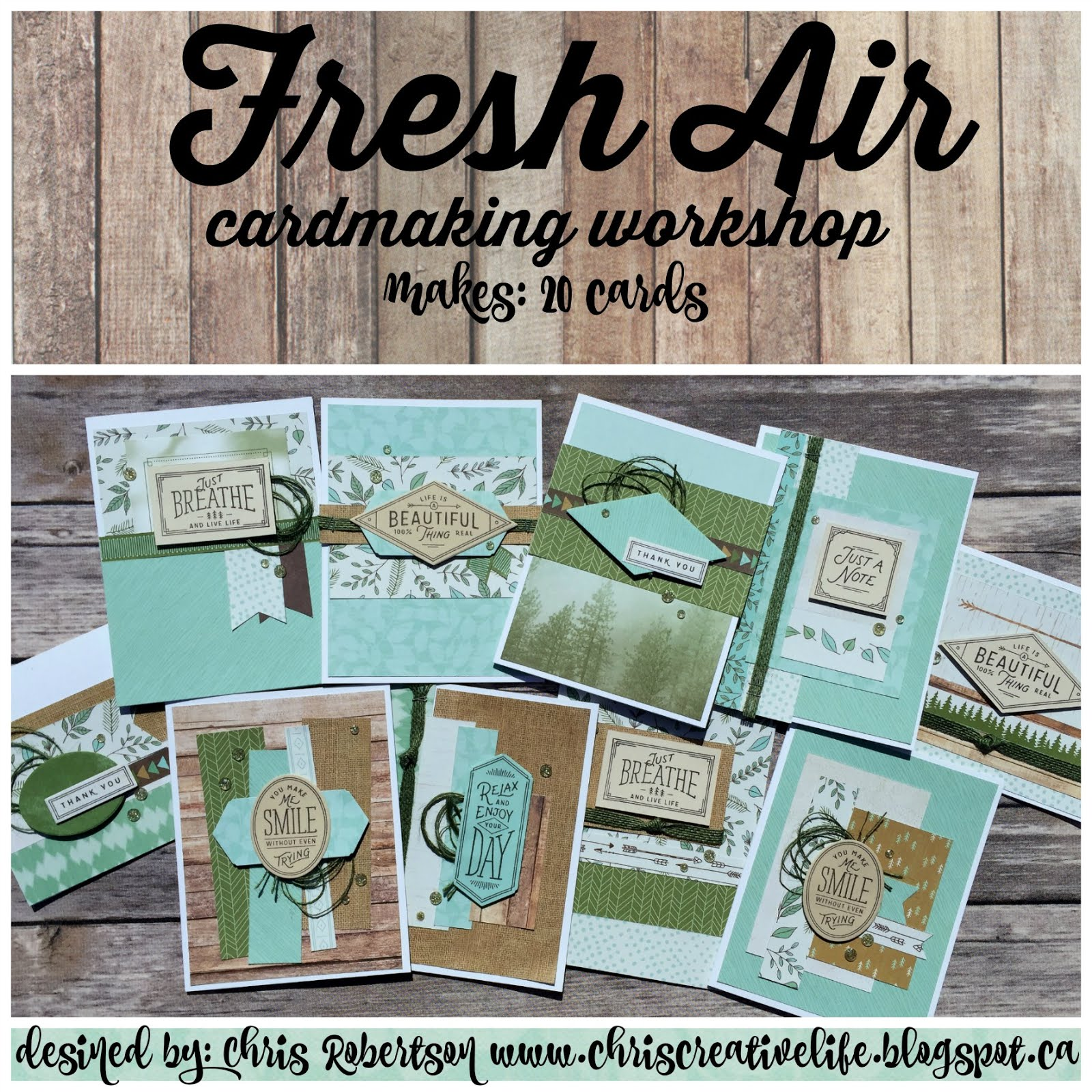 Fresh Air Cardmaking Workshop