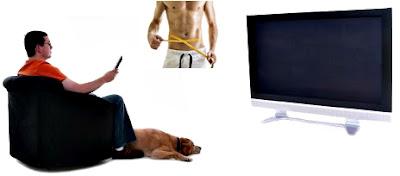Quemar grasa viendo televisión hombre