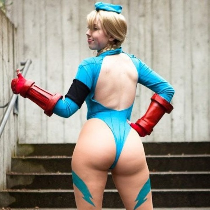 As cosplayers da Cammy do Street Fighter gostosas e sensuais