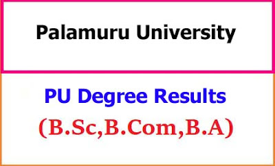 Palamuru University Degree Examination Results