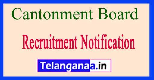 Cantonment Board Delhi Recruitment Notification 2017