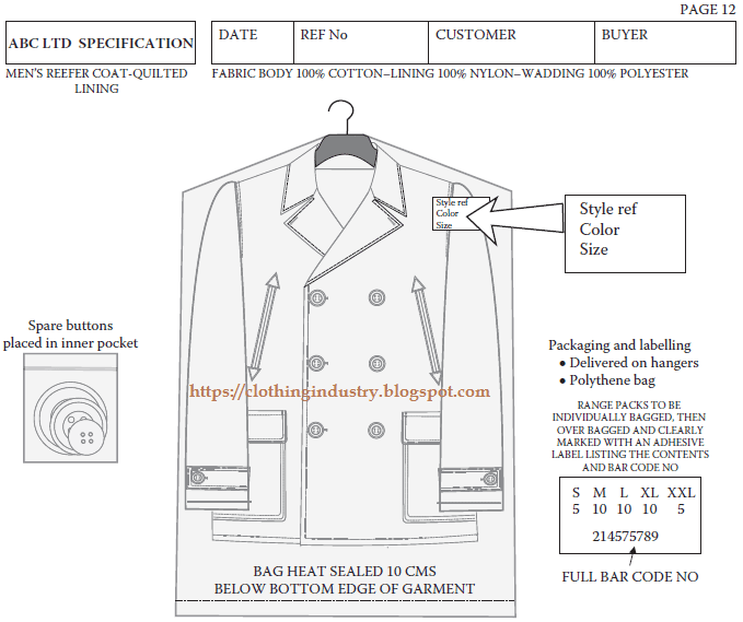 How to Prepare Specification Sheet for Reefer Coat