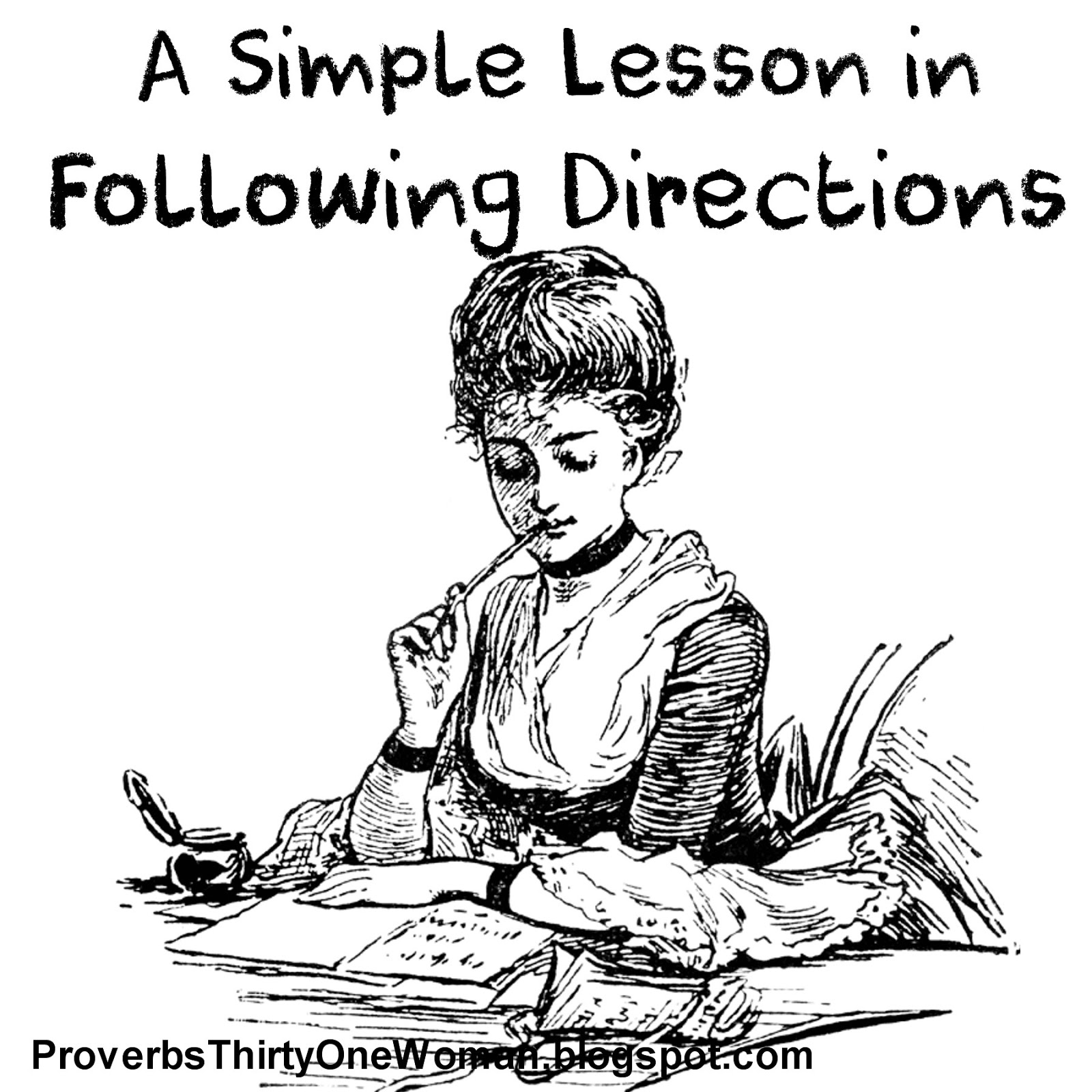 A Simple Lesson In Following Directions With A Free