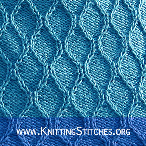 Twisted Knitting Stitch - Great stitch pattern. It looks so pretty - but is really easy to knit