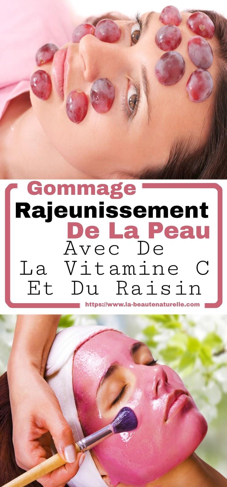 Gommage Rajeunissement De La Peau Avec De La Vitamine C Et Du Raisin
