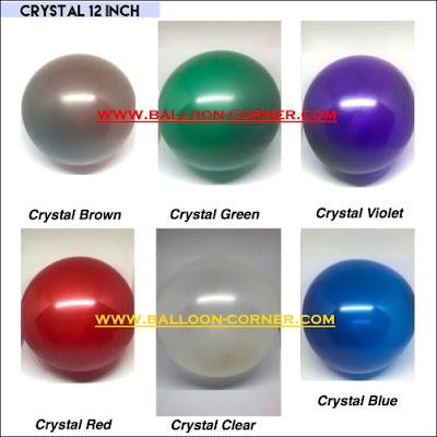 Balon Latex Crystal 12 Inch Kualitas SUPER GRADE A