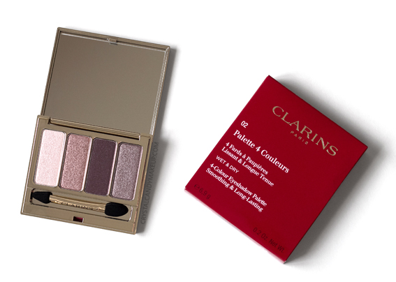 Clarins 4-Colour Eyeshadow Palette Fall 2016 02 Rosewood Review Photos