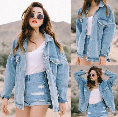ebay fashion, retro vintage fashion, cheap fashion, oversized denim jacket, spring summer fashion trends 2018