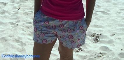 Conhiloslanasybotones - Shorts mujer