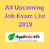 All Upcoming Job Exam List 2019