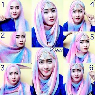 Tutorial hijab segi empat lebaran