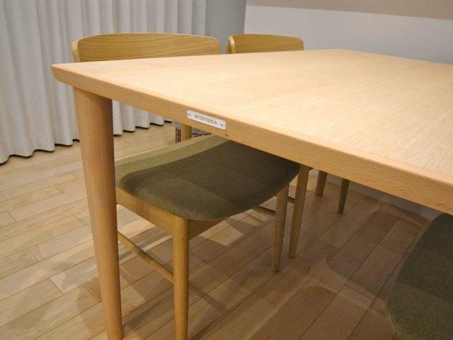カリモク60 ダイニングテーブル ピュアビーチ色