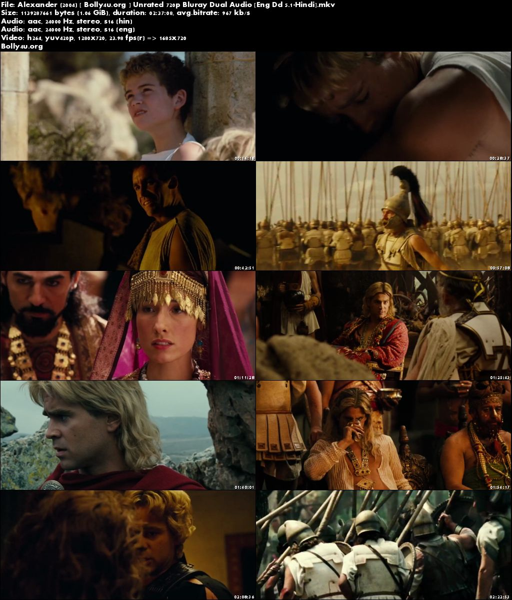 Alexander 2004 BluRay 1GB UNRATED Hindi Dual Audio 720p Download