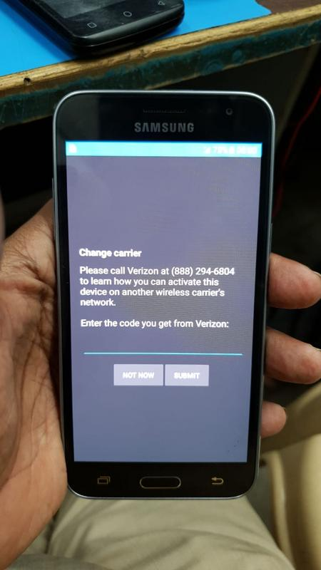 how to unlock a verizon phone without the code