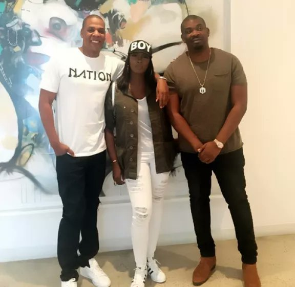 Tiwa Savage and Don Jazzy Meets with Jay Z in New York