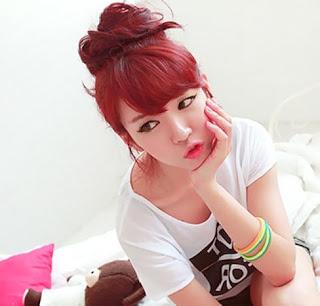 rambut ikat cepol ala korea