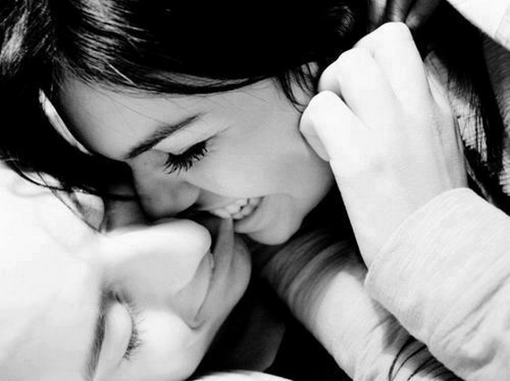 loveimages: boy girl kiss romantic love bite eachother lovers