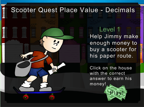Place value of decimal numbers online game
