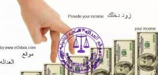 زود دخلك.Provide your income.
