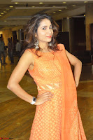 Bhanu Priya in Oreange Ethnic Anarkali Dress 03.JPG