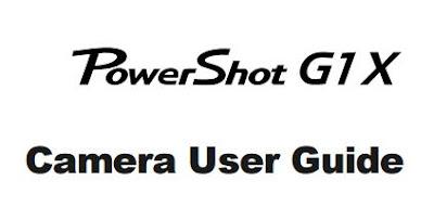 Download Canon PowerShot G1 X Camera PDF User Guide / Manual