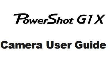 Canon Camera News 2020: Download Canon PowerShot G1 X