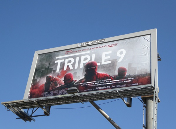 Triple 9 movie billboard