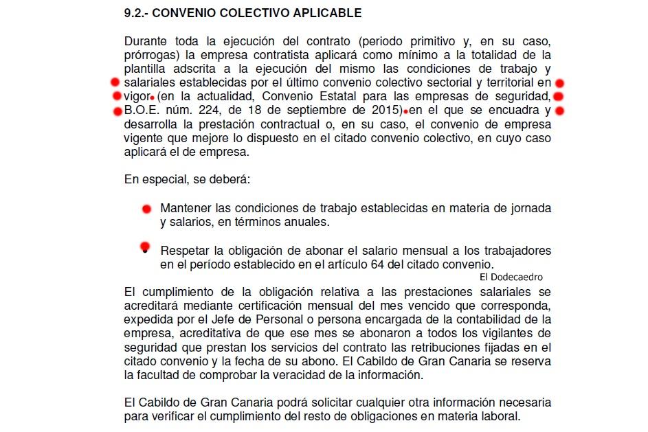 El cabildo de gran canaria licita la seguridad de sus for Convenio oficinas y despachos tenerife