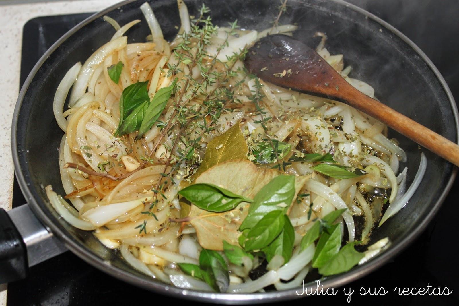 Julia y sus recetas pollo encebollado for Cocinar 2 muslos de pollo